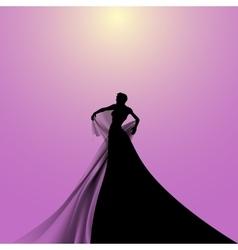 Silhouette of Opera Singer vector