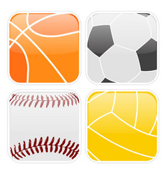 Simple sport icons vector