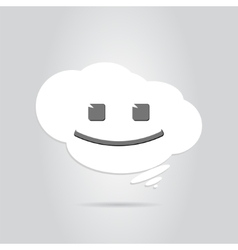 Smile in the White Cloud vector image
