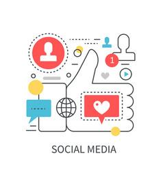 social media modern concept vector image