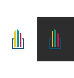square building logo vector image