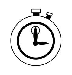 Stopwatch chronometer precision timepiece flat vector