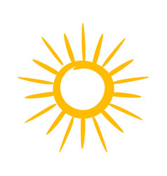 sun icon hot weather and warm symbol vector image
