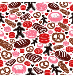 Sweet bakery seamless pattern vector image