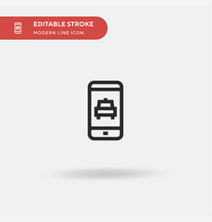taxi simple icon symbol vector image