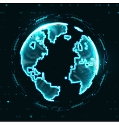 Technology image of globe vector image