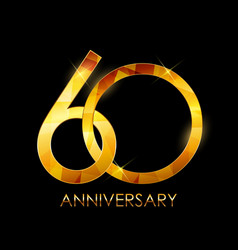 Template 60 years anniversary congratulations vector