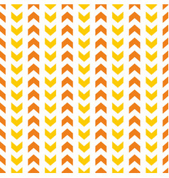 tile pattern with orange and yellow arrow print vector image