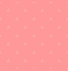 tile pattern with triangle print on pink vector image