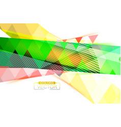 Translucent multicolored shape scene vector