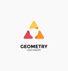 Triangle logo template modern abstract vector