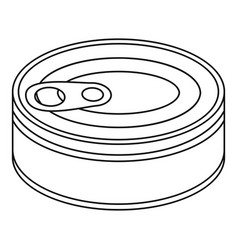 Tuna can icon outline style vector