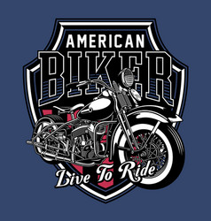 vintage motorcycle emblem vector image