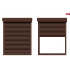 white roller shutters on window vector image