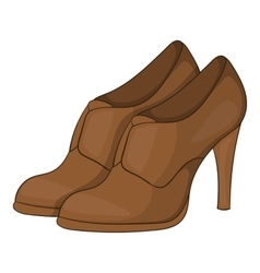 Womens shoes on platform icon cartoon style vector image
