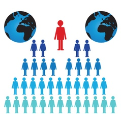 World Population vector