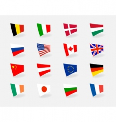 icons flags vector image