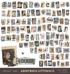 newspaper alphabet 2 vector image
