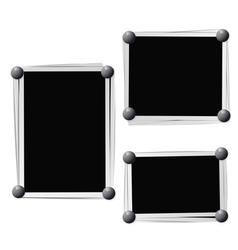 Photo frames composition vector image
