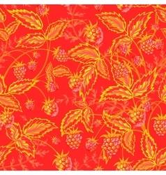 Raspberries seamless pattern with orange yellow vector image vector image