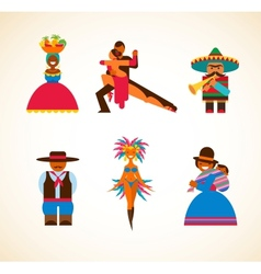 South American people - concept vector image vector image