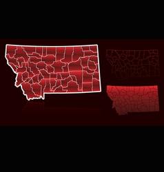 counties of montana vector image vector image