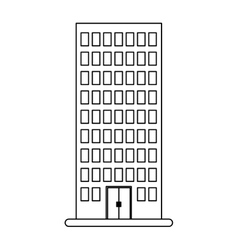 figure building line sticker image vector image vector image
