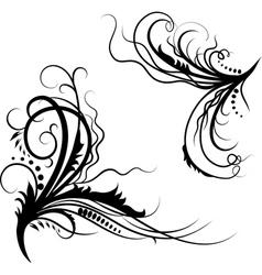 Floral patterned corners vector image