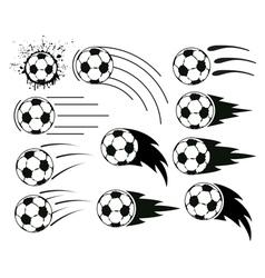 flying balls vector image vector image