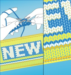knit new vector image vector image