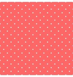 Tile pattern white polka dots on pastel background vector image