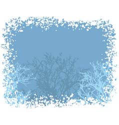 winter snow border background vector image vector image