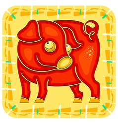 Year of the Pig Chinese horoscope animal sign vector image vector image