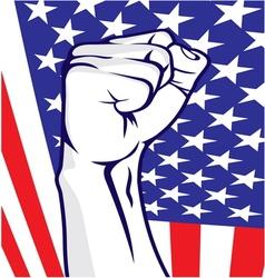 American fist vector image vector image