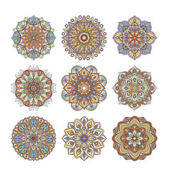 chinese and indian floral pattern color indian vector image vector image