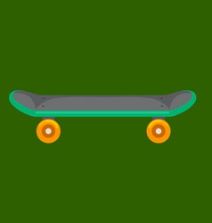 isolated skateboard with wheel for active vector image