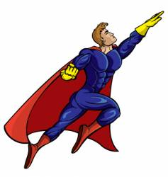 super hero flying vector image vector image