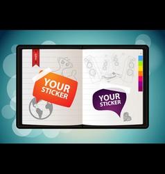 vector sketchbook vector image vector image