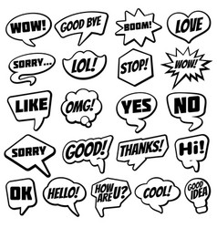 vintage speech bubble with internet chat dialog vector image vector image