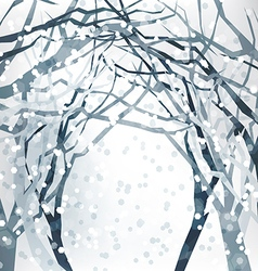 Abstract Christmas Design with winter background vector image