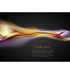 glowing waves on the dark background vector image