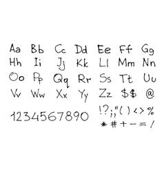 Hand Written Font vector image