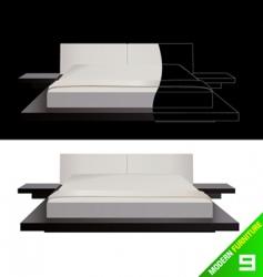 modern furniture vector image