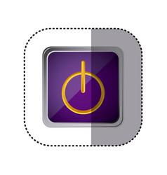 purple emblem power button vector image