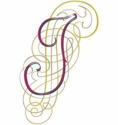 script letter i vector image vector image