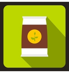 Seeds bag icon in flat style vector image