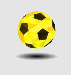 abstract low poly golden footballgeometric style vector image