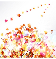 Autumn leaves design background vector