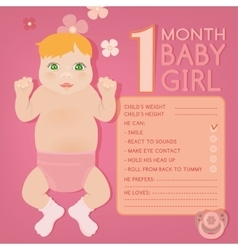 Baby growth infographic vector