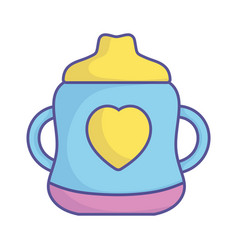 bashower cup bottle with handles icon vector image